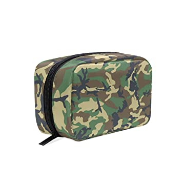 d018b43804 Image Unavailable. Image not available for. Color  Green Camo Toiletry Bag  Travel Kit for Men and Women ...
