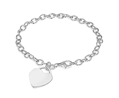 Tuscany Silver Sterling Silver 150 Oval Belcher Charm Bracelet of 20cm/8 IpwLO