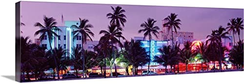 GREATBIGCANVAS South Beach Miami Beach FL Canvas Wall Art Print