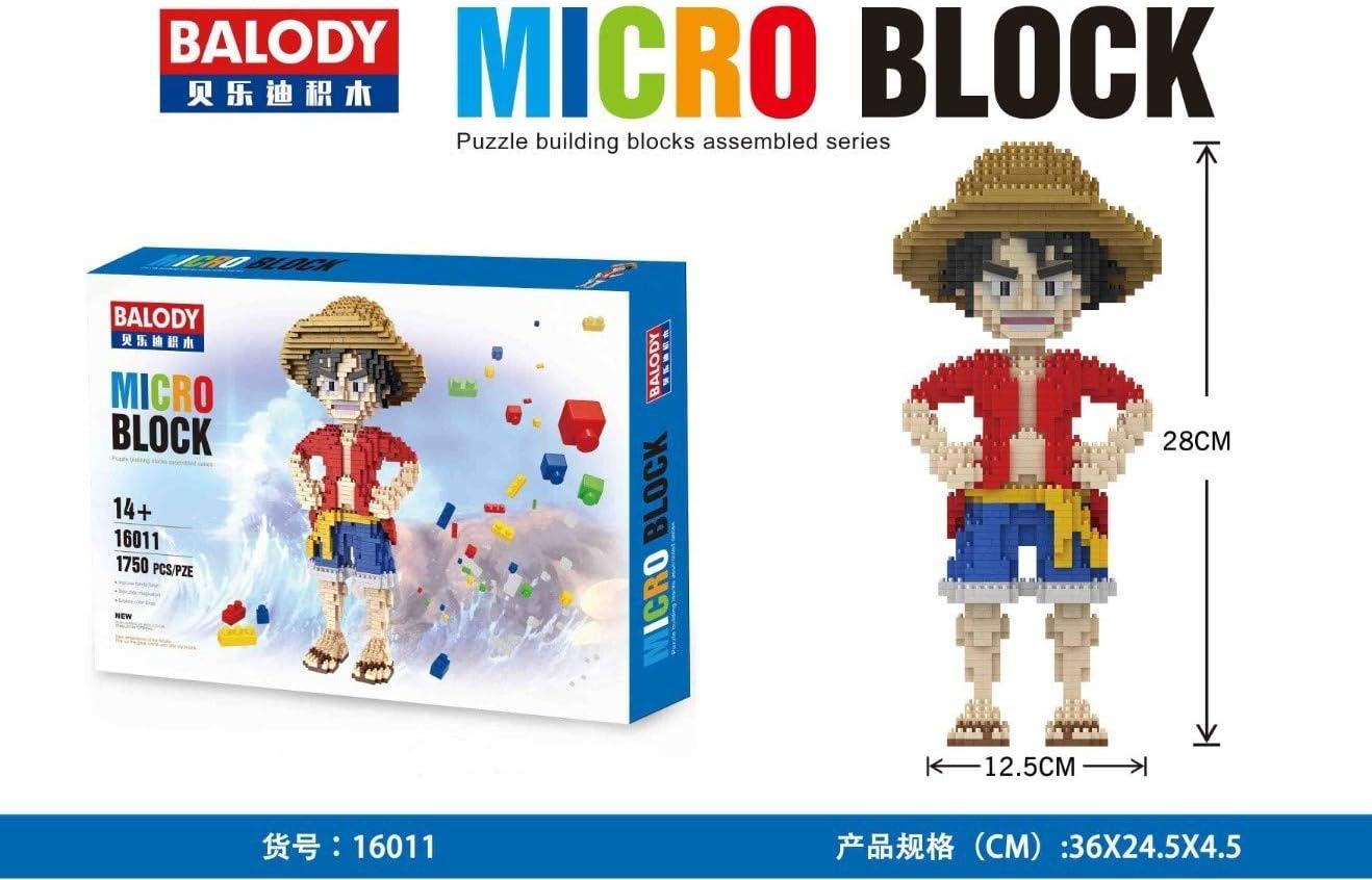 THTB One Piece Building Block Set ca.28 cm Luffy: Amazon.es: Electrónica