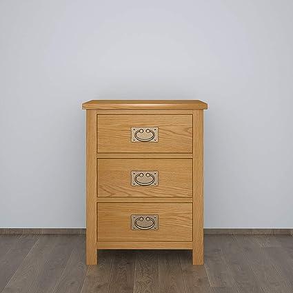Ruication Table de Chevet Commode avec 3 tiroirs Meuble de ...