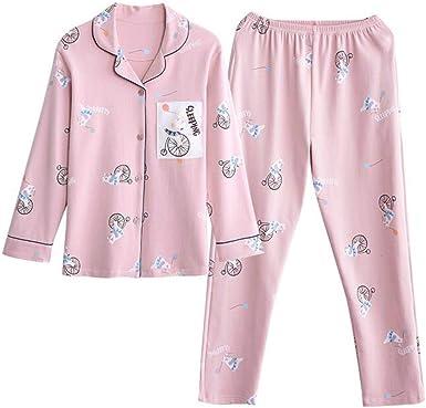 Ropa De Dormir Pijamas Mujer Camisones Algodon Manga Larga Tops Pantalones Estilo Delgado Primavera Otono Verano Conjunto Traje Servicio Domicilio Amazon Es Ropa Y Accesorios