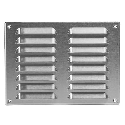 Rejilla de ventilación de acero inoxidable - 260 X 190 mm ...