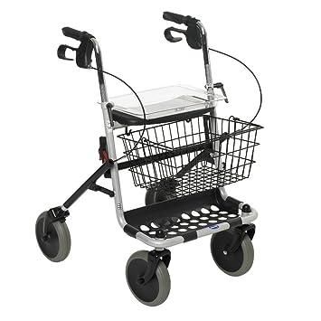 NRS Healthcare Healthcare Banjo Andador de 4 ruedas con bandeja y ...
