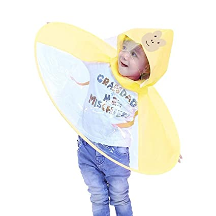 e6036d1d9b18 Sttech1 - Raincoat Animal Ponchos Creative Hands Free UFO Design ...
