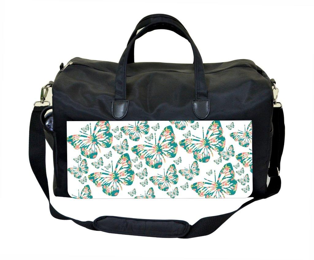 Floral Butterflies Gym Bag
