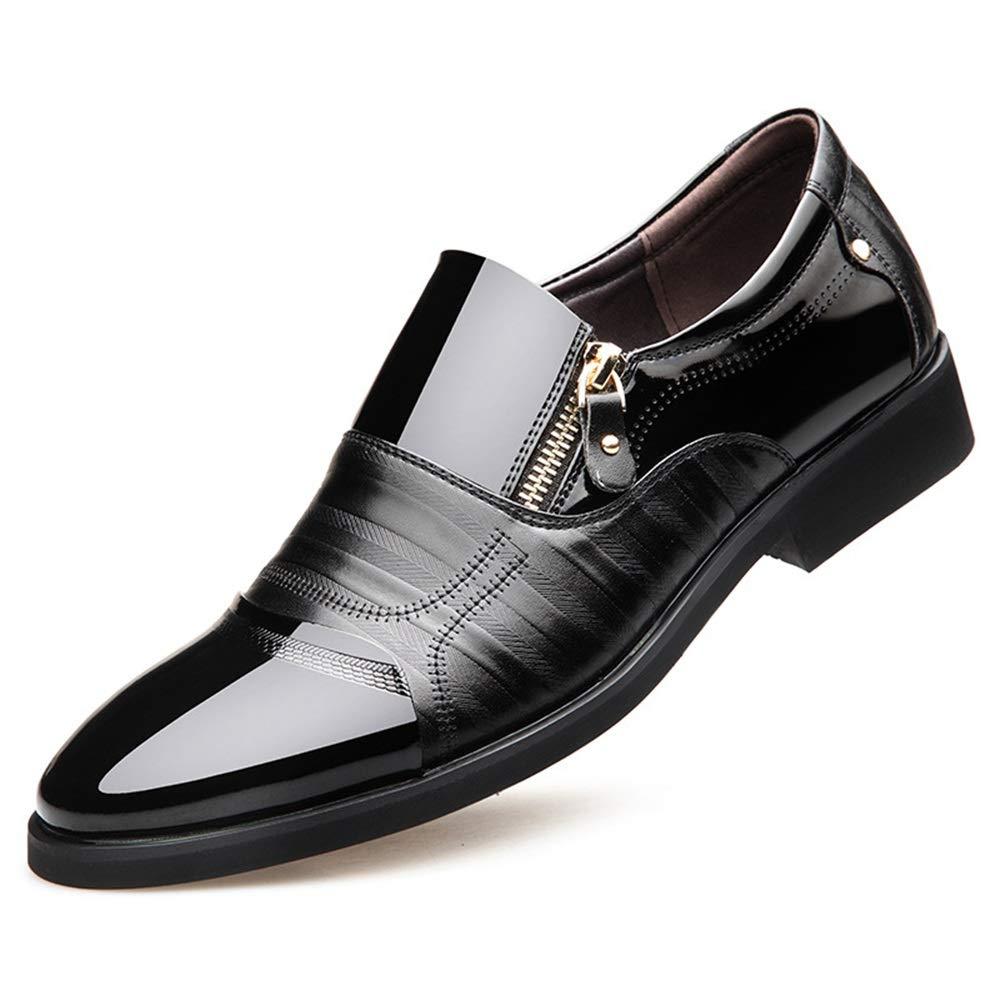 ZHRUI Mens Business Casual Slip auf Schuhe Formale Büro täglich langlebig Rutschfeste Schuhe (Farbe   Schwarz, Größe   EU 41)