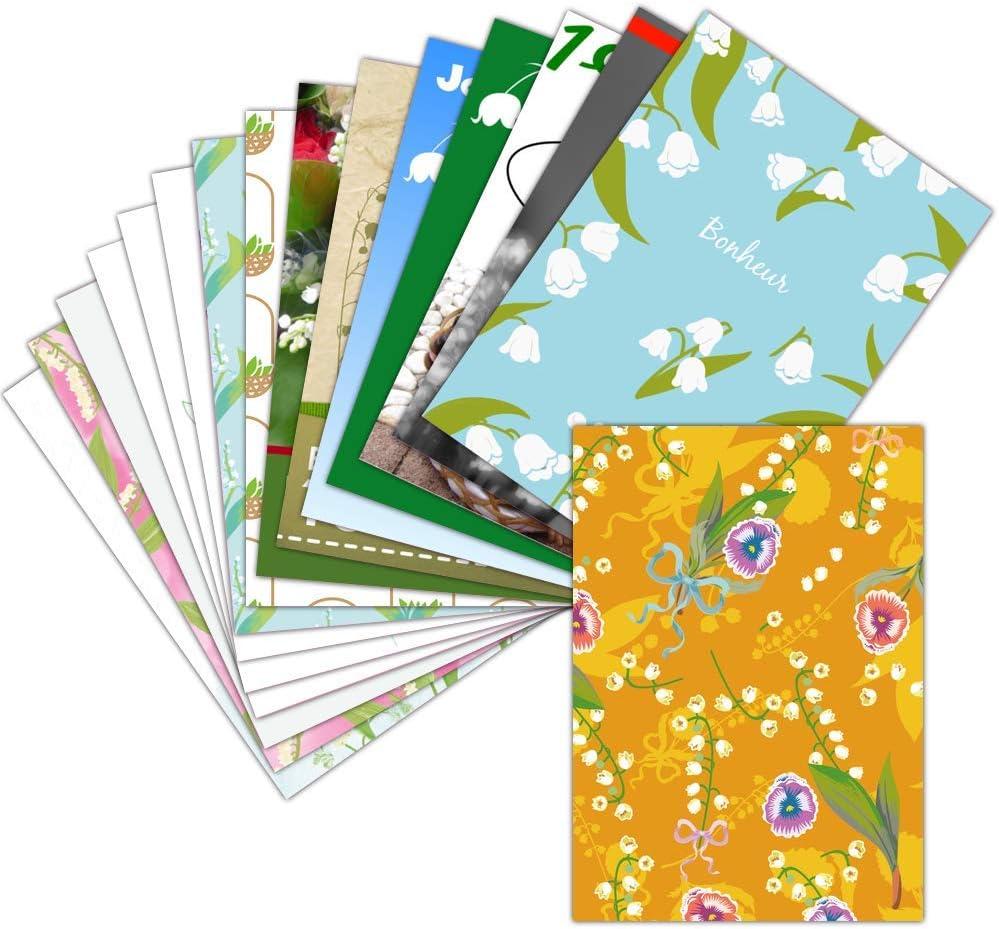 Carte 122er Mai et Muguet — Lot de 1226 Cartes Différentes ➽ Format Carte  Postale 122 Formats Dispos — Jolie Carte 122er Mai et Muguet