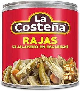 La Costeña Chile Jalapeño Rajas, 105 g