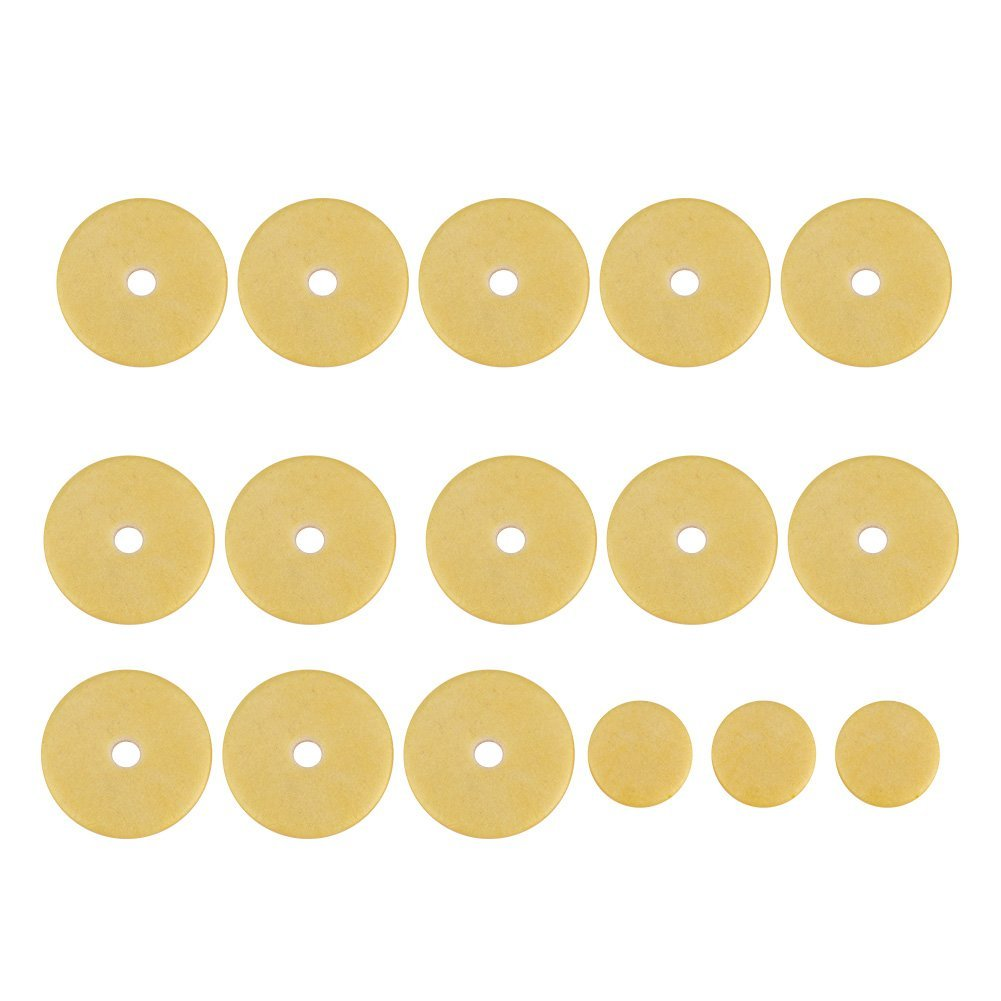 16 Pcs Flute Pads, Flute Pads Set Replacement Accessories for Flutes Dilwe