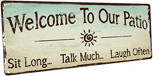 WOODEN DECOR WELCOME TYPE SIGN--WELCOME TO OUR HOME--4 X 9 HANGING NEW ITEM