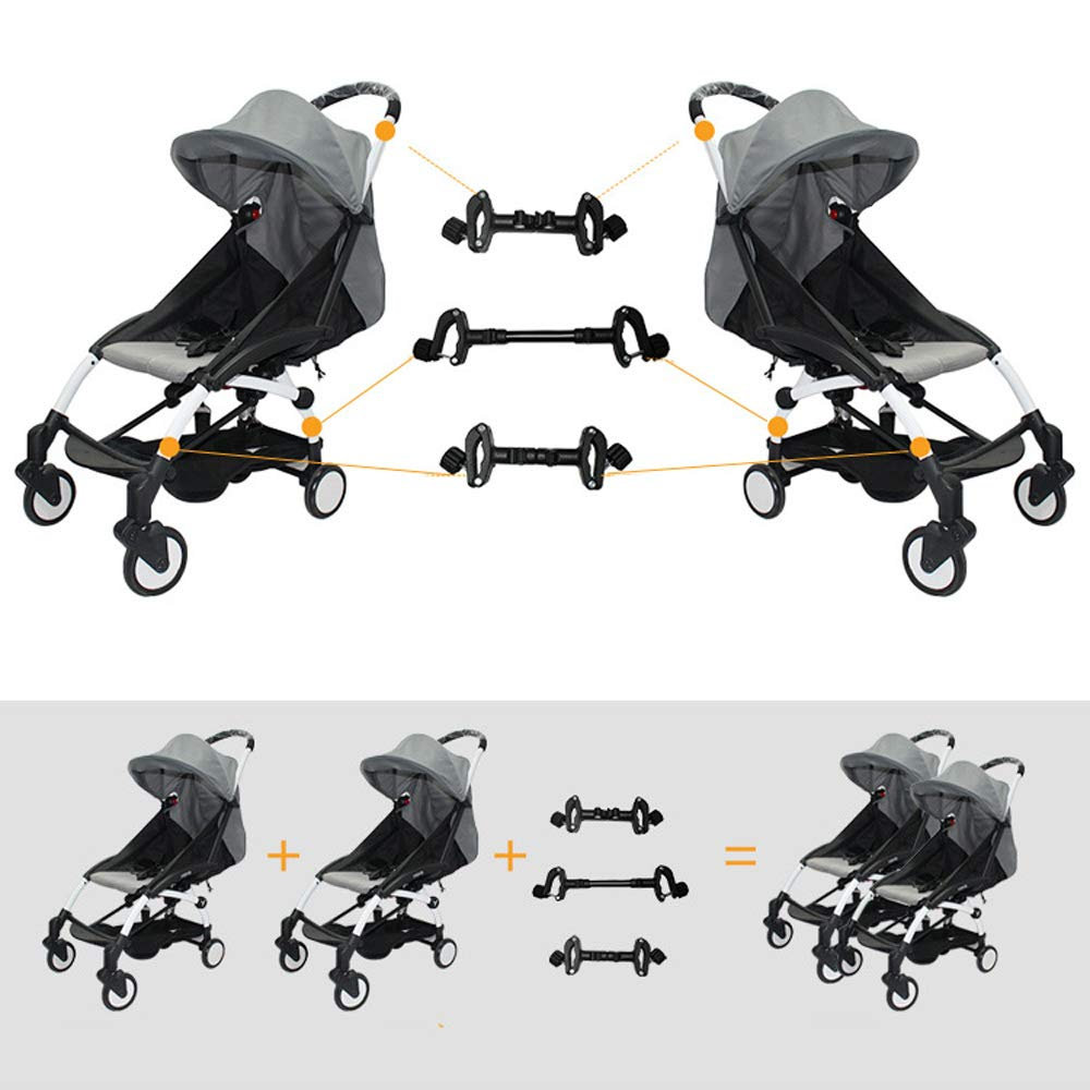 Stroller Connectors, Turn 2 Strollers into an Instant Tandem Stroller, Fits Most Strollers