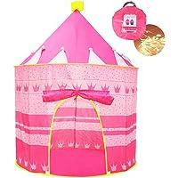 Opret Tienda de Princesa para Niñas Pop Up Carpa Plegable para Niños Carpa Rosa con Bolsa