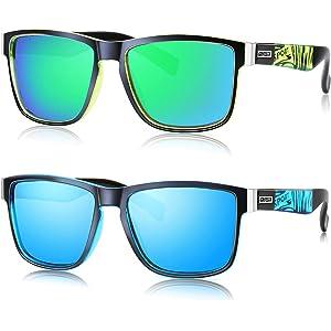 Amazon.com: DUBERY Vintage Polarized Sunglasses for Men ...
