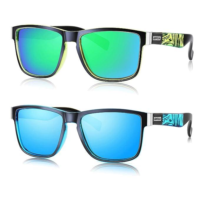 Amazon.com: GRFISIA Gafas de sol polarizadas para hombre y ...