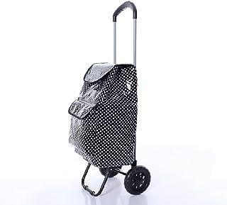 QX IAIZI Chariot de remorque de supermarché de Chariot de magasinage de Conservation d'isolation Pliant la Voiture portative de Chariot Durable