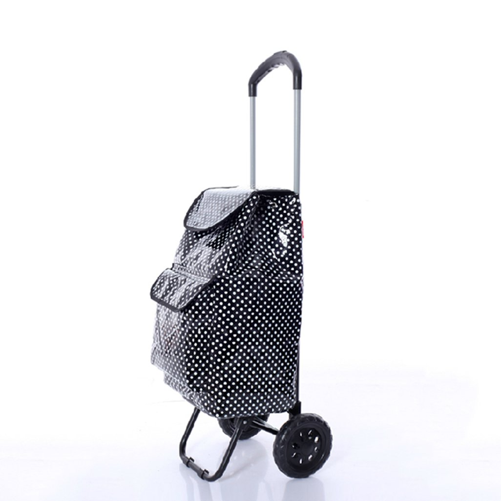 Amazon.com: MLMHLMR Insulation Preservation Shopping Cart Supermarket Trailer Cart Shopping Cart Folding Portable Trolley Car Trolley: Home & Kitchen