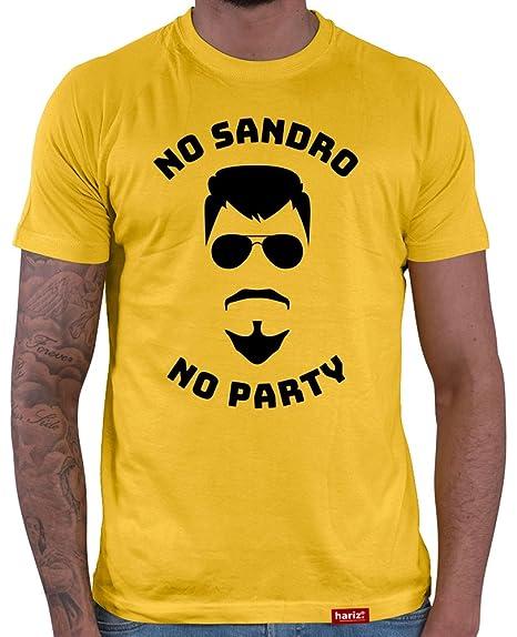 HARIZ Herren T Shirt No Sandro No Party Urlaub Sprüche Bier