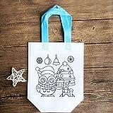 Bolsa de asas de graffiti con bricolaje Bolsas de comestibles no tejidas para niños Artes y manualidades
