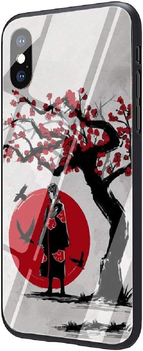 Anime Naruto Itachi Akatsuki Sharingan Tempered Glass Case for iPhone 12 11 Pro Max Mini X XR XS Max 7 8 6 6S Plus Phone Cover Coque(7, iPhone 11 Pro)
