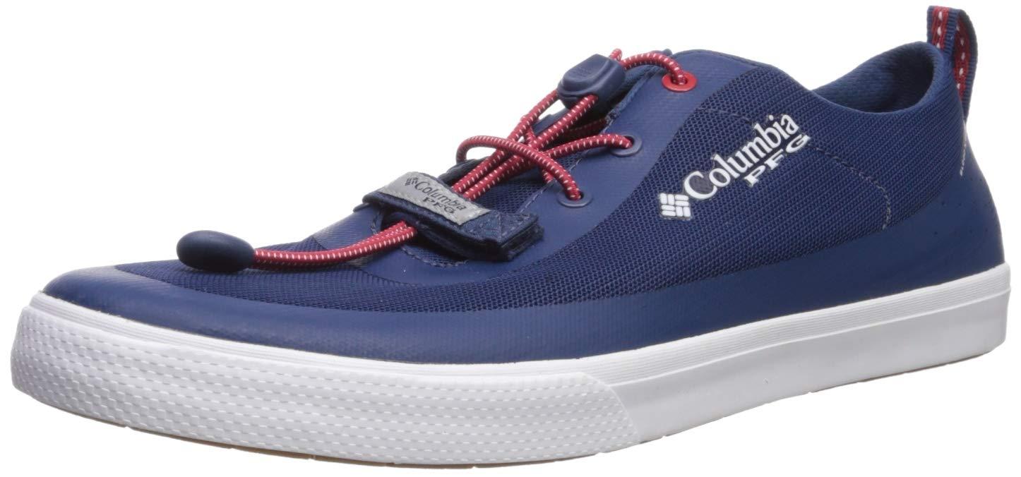 Columbia PFG Men's Dorado CVO PFG Boat Shoe Carbon, Intense Red 7