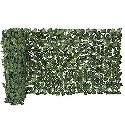 """Ecover Artificial Laurel Leave Fence, Wall Decoration, Indoor/Outdoor,39""""x118"""""""