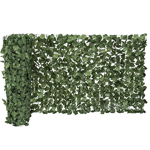 Ecover Artificial Laurel Leave Fence, Wall Decoration, Indoor/Outdoor,39''x118'' by Ecover