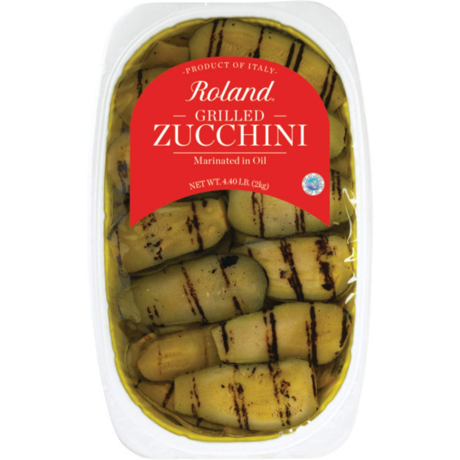 Roland Foods Grilled Zucchini Marinated in Vinegar and Oil, Specialty Imported Food, 70.5-Ounce Package
