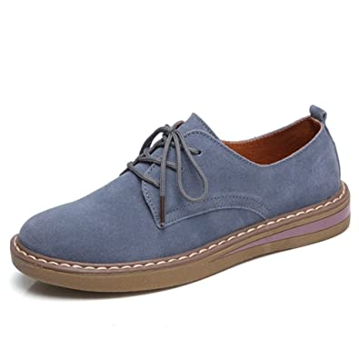 ddadb6028cc3 Frauen Echte Lederschuhe Oxford Lace up Fashion Casual Sneakers Flats Schuhe   Amazon.de  Schuhe   Handtaschen