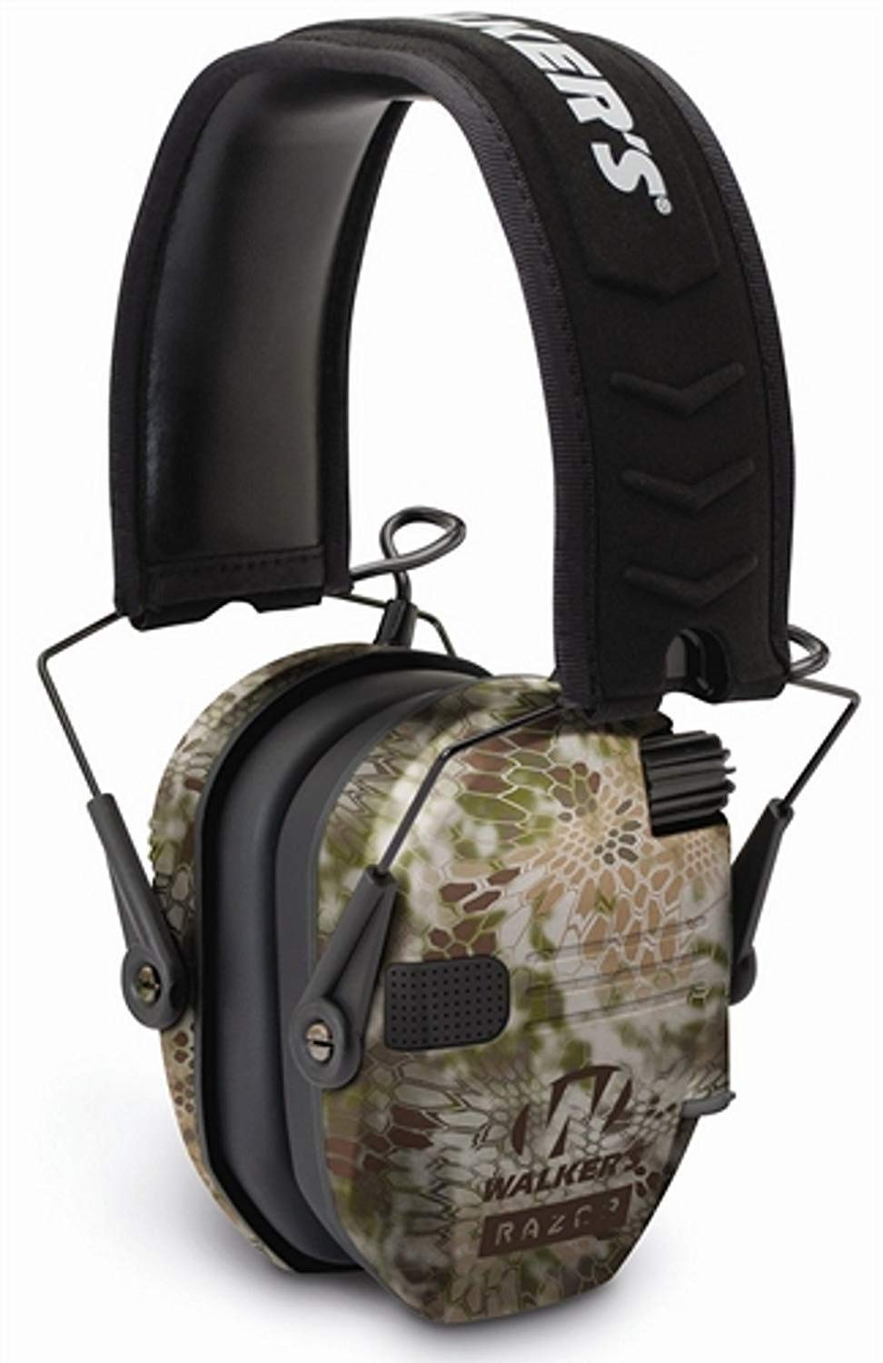 Walkers Razor Slim Electronic Hearing Protection Muffs with Sound Amplification and Suppression and Shooting Glasses Kit (Kryptek Camo) by Walkers (Image #3)