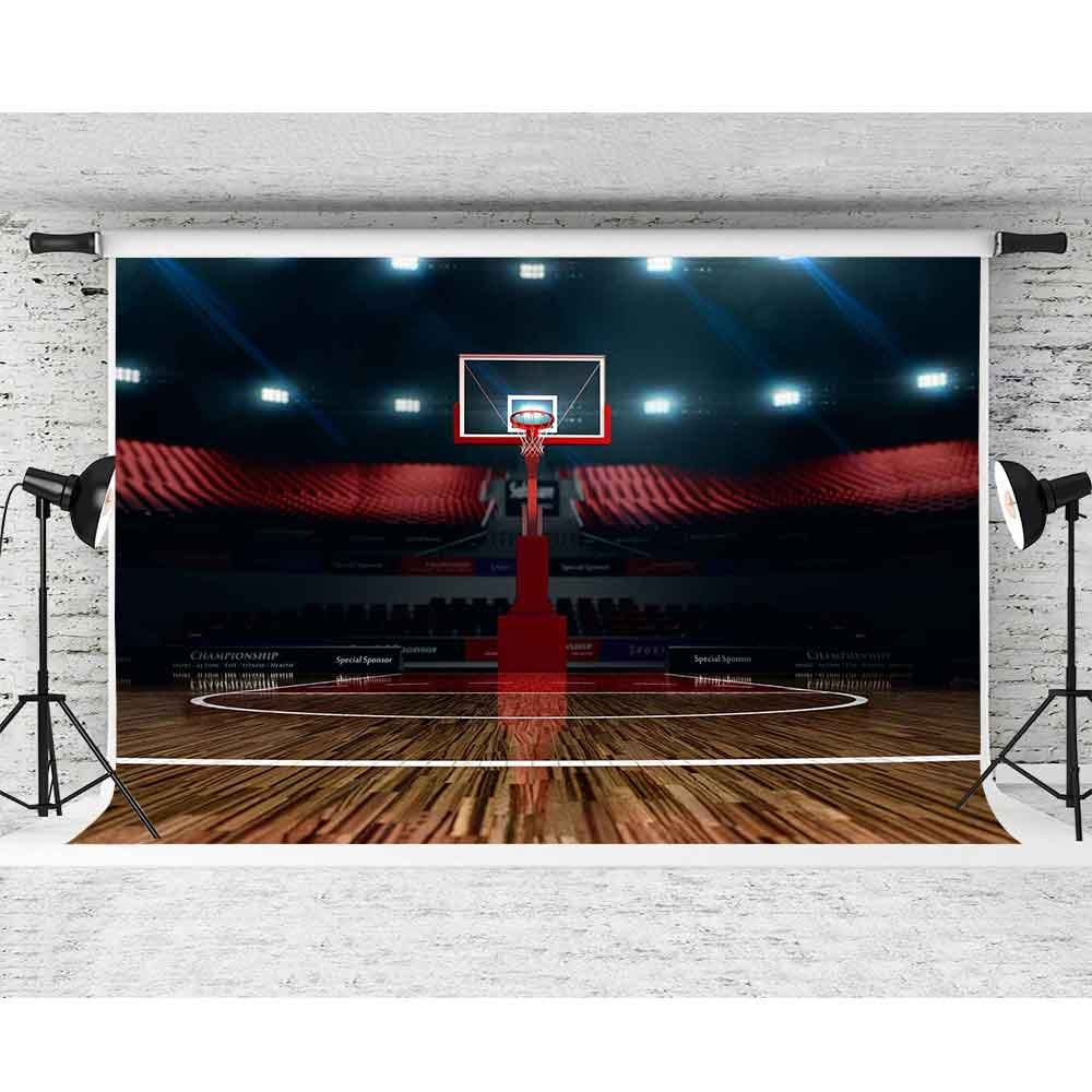 lowest price c165f 81792 Amazon.com   FHZON 10x7ft High-end Basketball Court Backdrop Indoor Stadium  Photography Background Themed Party YouTube Backdrop Photo Booth Studio  Props ...