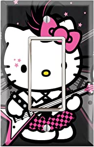 Single Rocker Wall Switch/Outlet Cover Plate Decor Wallplate - Hello Kitty I Love Punk