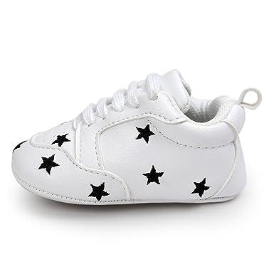 YanHoo Correas de Cinco Puntas Bordadas para niños pequeños Bebé de Cinco Puntas Estrella Vendaje Zapatos de Suela Suave Zapatillas de Deporte de niño ...