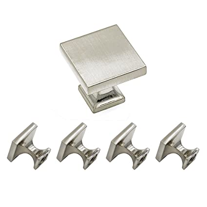 Homdiy Cabinet Knobs Brushed Nickel 5 Pack Hd6785snb Soild Wxw 1 1