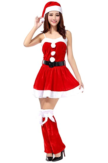Honeystore Women's Sexy Mrs Claus Adult Christmas Costume Outfit Style 1 - Amazon.com: Honeystore Women's Sexy Mrs Claus Adult Christmas