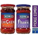 KEYA Combo of Malabar Chicken and Goan Prawn Pickles (270 Gms Each)