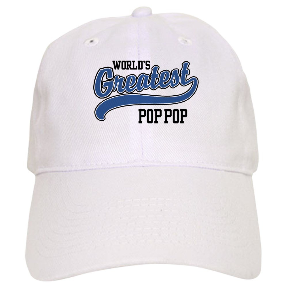 dbab3d4c Amazon.com: CafePress World's Greatest Pop Pop Cap Baseball Cap with  Adjustable Closure, Unique Printed Baseball Hat Khaki: Clothing