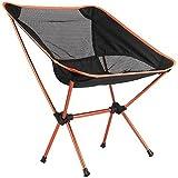 Portable Chair Folding Seat Stool Fishing Camping Hiking Gardening Beach&Bag (Orange)