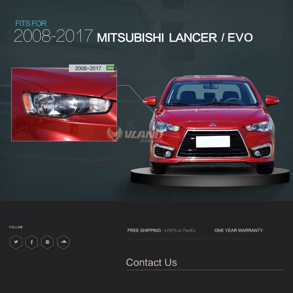 Aoedi Toyota Mitsubishi Lancer 2008 2017 Headlights Led Fuse Box Front Headlamp Dual Projector Assembly Automotive