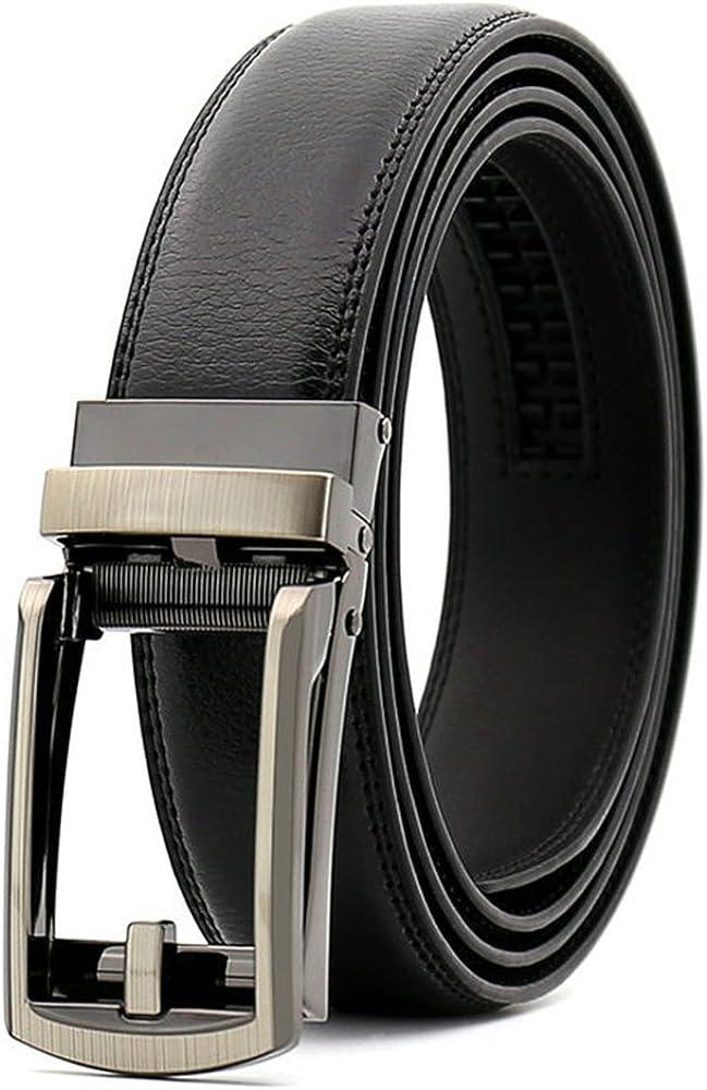"""Chemstar Men's Dress Comfort Genuine Click Belt,Adjustable Leather Belt 27-46"""""""