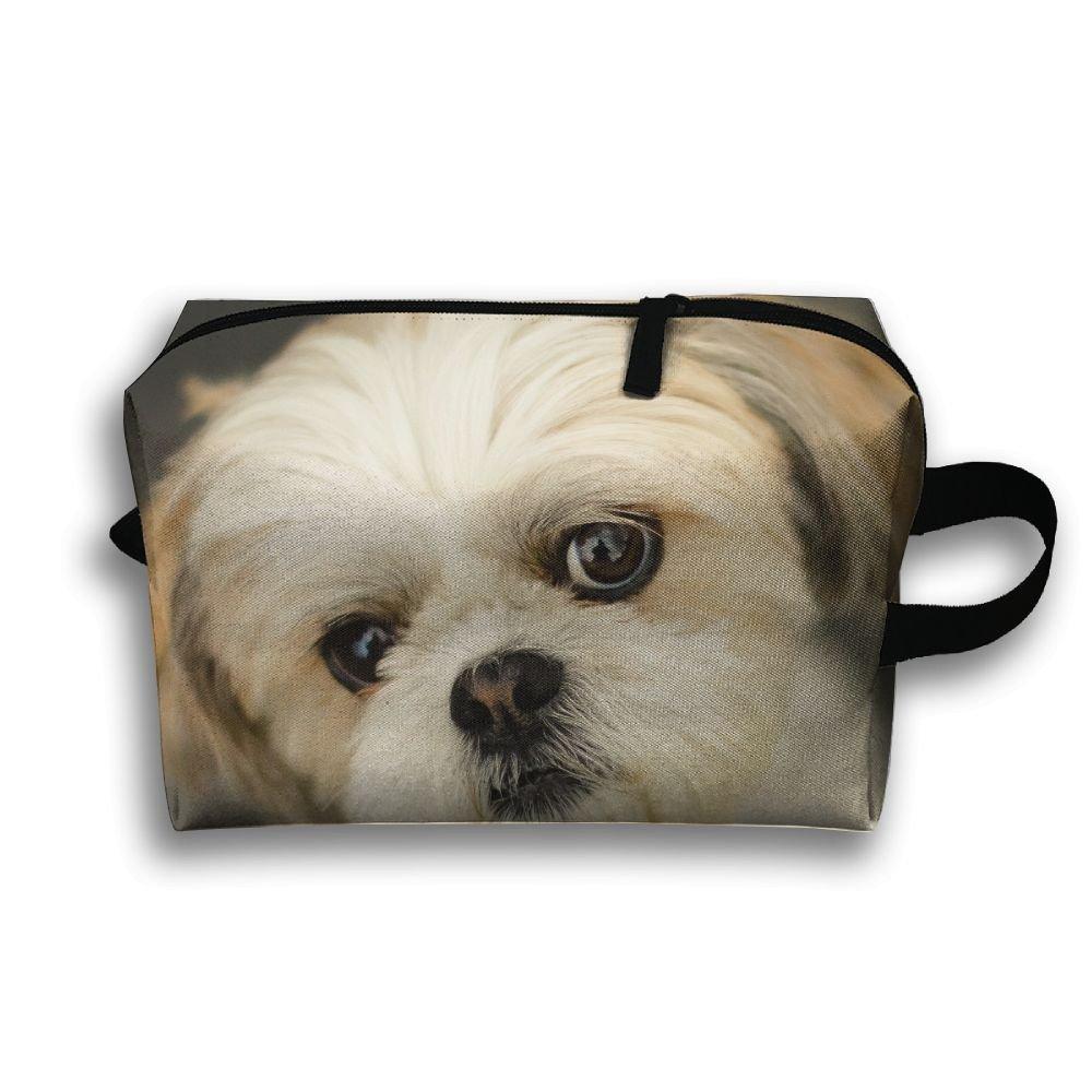 77b624da37 outlet Michgton Cosmetic Bag Shih Tzu Little Dog Girls Unique 3D Printing  Travel Multifunction Makeup Case