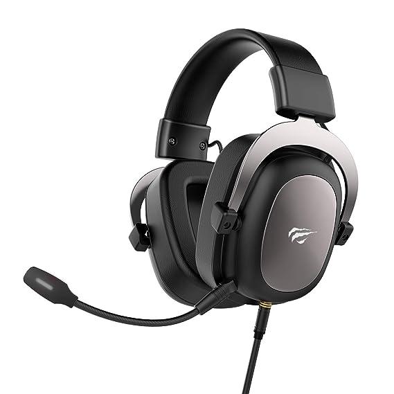 HAVIT PS4 Headset, PC Gaming Headset, Kopfhörer für Xbox One, Nintendo Switch, Over-Ear Kopfhörer mit 53MM Treiber (H2002d, G