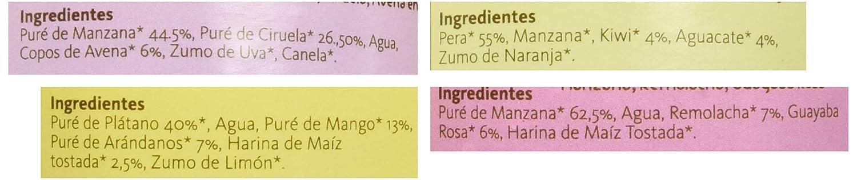 Yammy, Pack Potitos Ecológicos Frutas (4 sabores varidos) - 12 de 195 gr. (Total 2340 gr.)