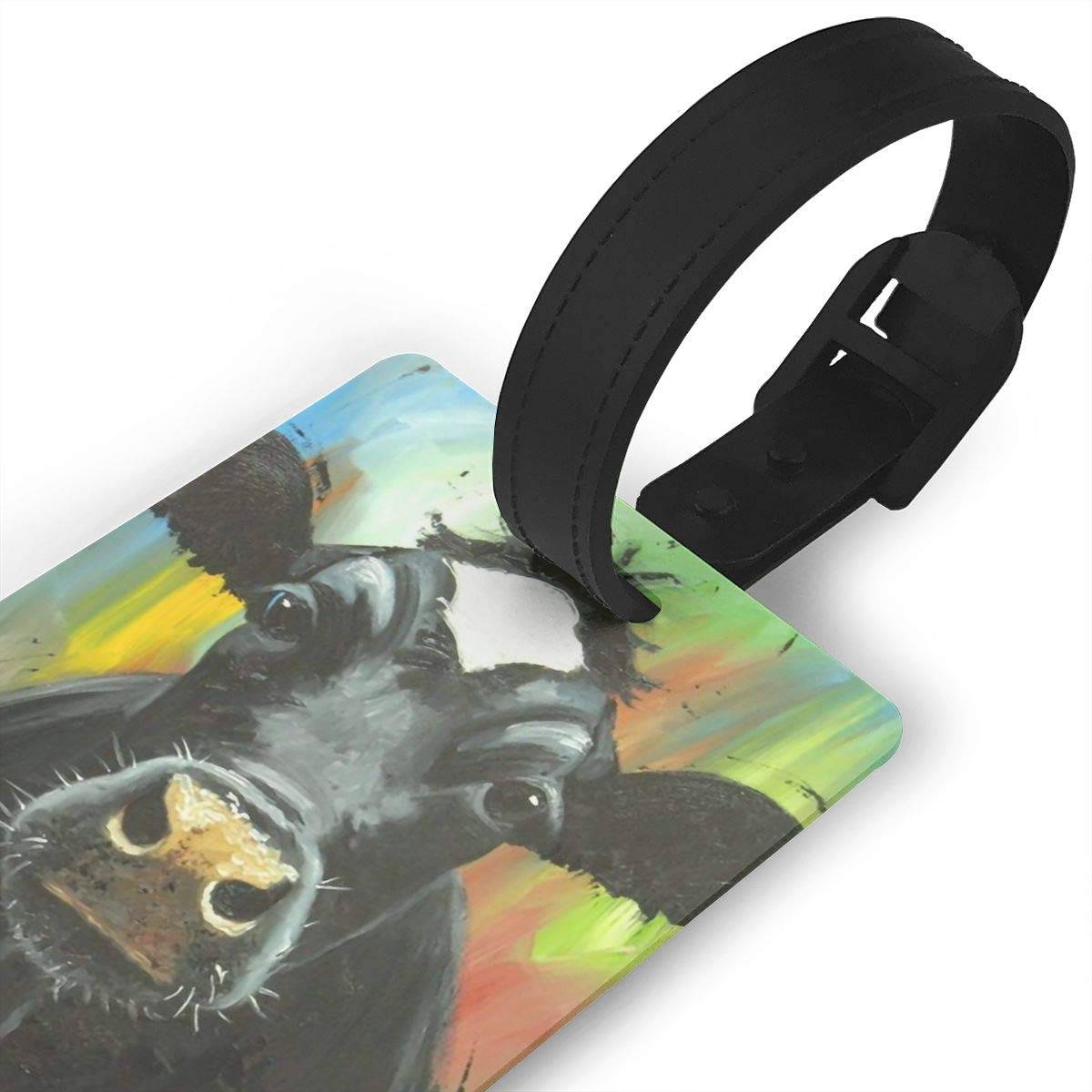 Cow Travel Tags For Travel Bag Suitcase Accessories 2 Pack Luggage Tags