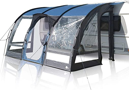 your GEAR toldo para caravanas Verona 390 Tienda para caravanas toldo para remolques Impermeable 5000mm toldo de Viaje Gris Azulado