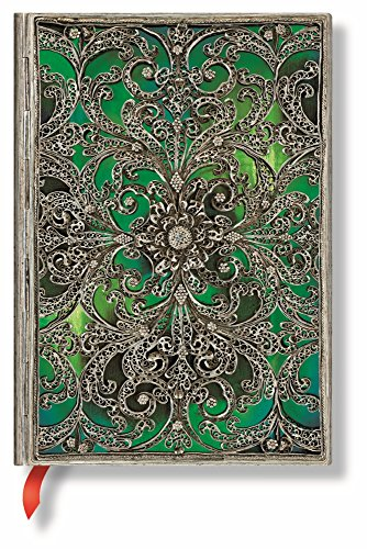 Esmeralda Midi Lined Notebook (Silver Filigree (Italian Filigree)