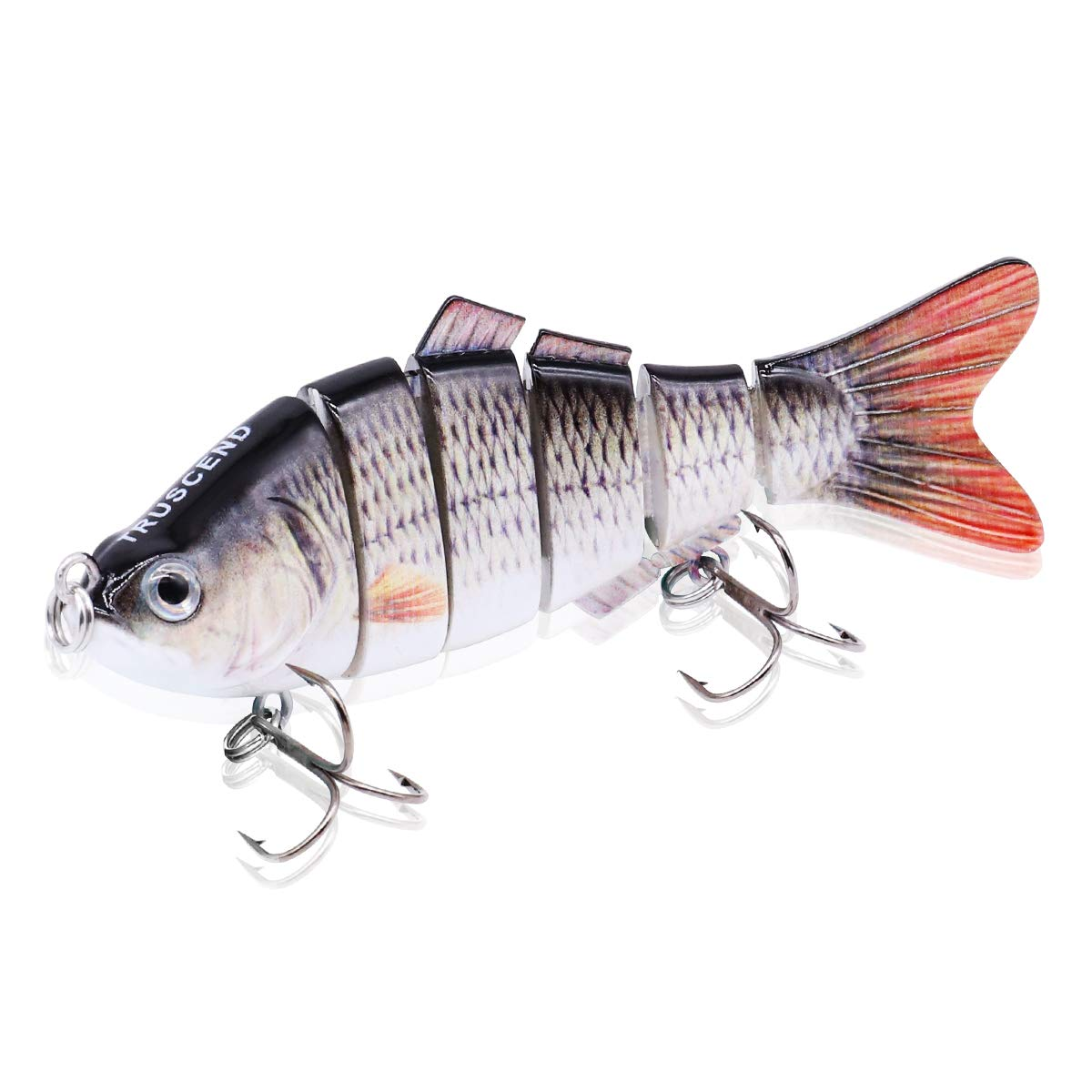 TRUSCEND Swimbaits Glide Baits for Bass Fishing Lures Crankbait Jointed Trout Swimbait with Mustad Hooks (S-1)