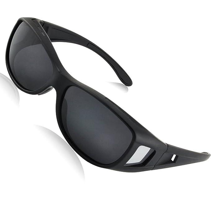 LEDING&BEST Gafas de sol deportivas polarizadas UV400,Gafas de Sol Para Colocar Sobre las Gafas