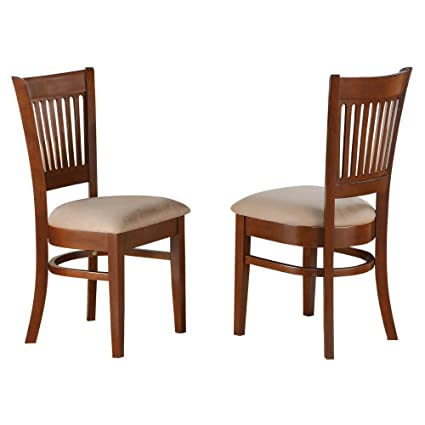 Super East West Furniture Vancouver Dining Chair With Microfiber Seat Set Of 2 Espresso Gmtry Best Dining Table And Chair Ideas Images Gmtryco