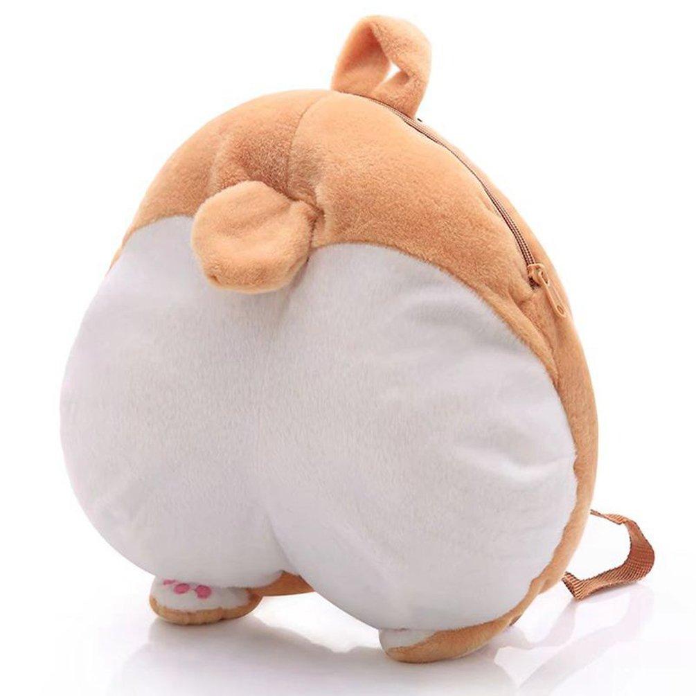 Good Night Lovely Corgi Butt Shaped Peluche de felpa suave Mochila